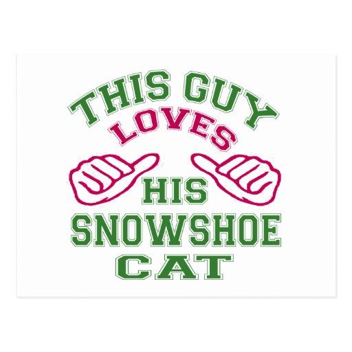 Isto ama seu gato do sapato de neve cartao postal