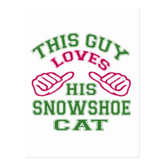 Isto ama seu gato do sapato de neve cartões postais