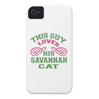 Isto ama seu gato do savana iPhone 4 capa