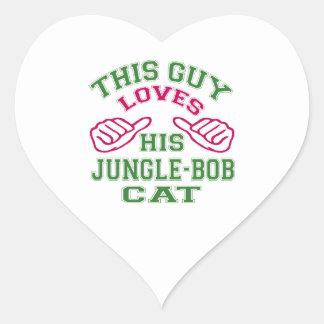 Isto ama seu Jungle-bob Cat Adesivo Em Forma De Coração