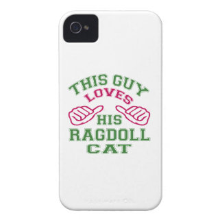 Isto ama seu Ragdoll.Cat Capas iPhone 4