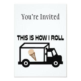 Isto é como eu rolo o caminhão do sorvete convite 12.7 x 17.78cm