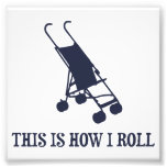 Isto é como eu rolo o carrinho de criança de bebê impressão de fotos