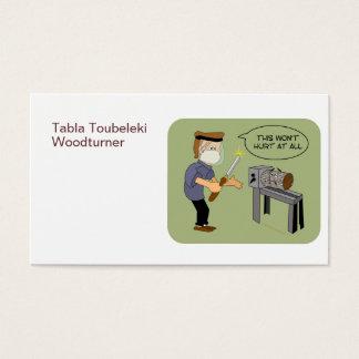 Isto não ferirá desenhos animados engraçados de cartão de visitas