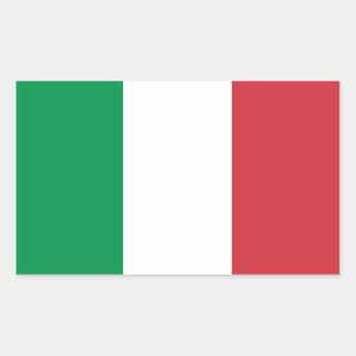 Italia/bandeira italiana adesivo em forma retangular