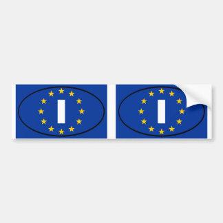 Italia - I - oval da União Europeia Adesivo Para Carro