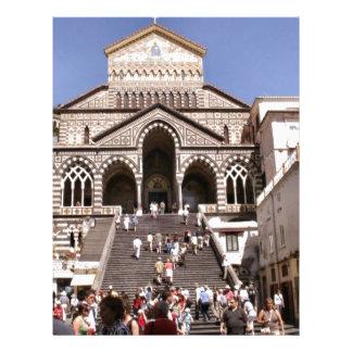 Italia, igreja na costa de Amalfi Papel De Carta Personalizados