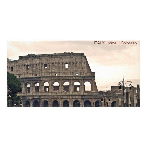 ITALIA mim Roma mim Colosseo Cartao Com Foto