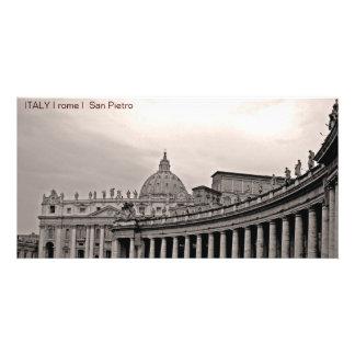 ITALIA mim Roma mim San Pietro Cartao Com Foto Personalizado