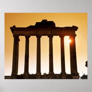 Italia, Roma, fórum romano, templo de Saturn Pôster