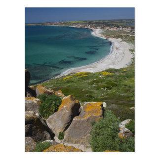 Italia, Sardinia, Tharros. Vista do espanhol Cartão Postal