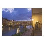 Italia, Toscânia, Florença. Ponte Vecchio Arte De Fotos