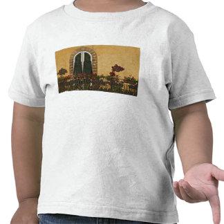 Italia, Toscânia, Lucca. Balcão decorado com Camiseta