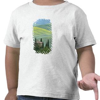 Italia, Toscânia. O Belvedere ou bonito Camisetas
