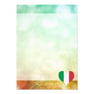Italiano bonito convite 12.27 x 17.78cm
