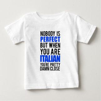Italiano Camiseta Para Bebê