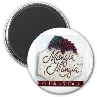 italiano-cozinha-decoração-mangia-mangia-chapa imãs