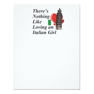 Italiano do amor do T Convites Personalizados