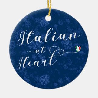 Italiano no coração, ornamento da árvore de Natal,