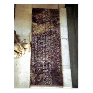 Italiano sumário: Epitaffio Michelangelo Buonarrot Cartao Postal