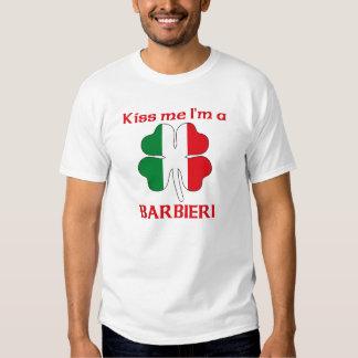 Italianos personalizados beijam-me que eu sou camiseta