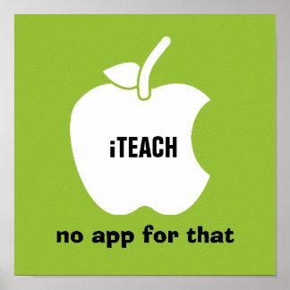 iTeach. Nenhum app para isso. Impressão da arte