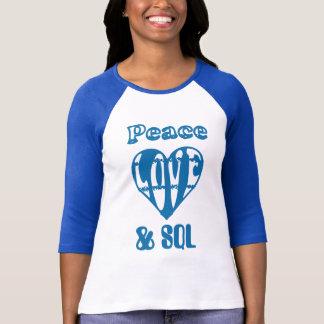 itrockstar - amor sql da paz camiseta