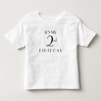 I'ts minha camisa do segundo aniversário
