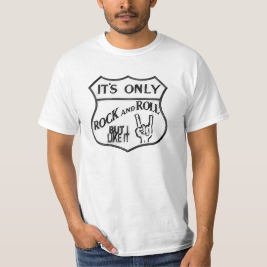 It's Only Rock and Roll #1 - Tshirt Stencil Custom Camiseta