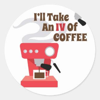 IV do café Adesivo