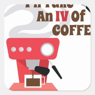 IV do café Adesivo Quadrado
