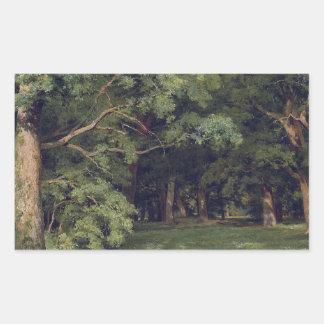 Ivan Shishkin o esclarecimento da floresta Adesivos Em Formato Retangulares