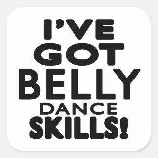 I've obteve habilidades da dança do ventre adesivos quadrados