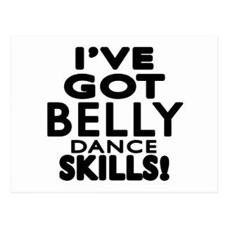 I've obteve habilidades da dança do ventre cartoes postais