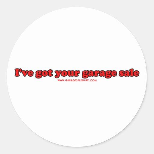 I've obteve sua venda de garagem adesivos em formato redondos