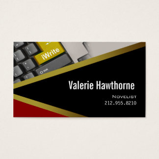iWrite - cartão de visita do editor do escritor do