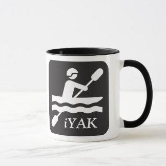 iYAK, caneca cerâmica preta kayaking