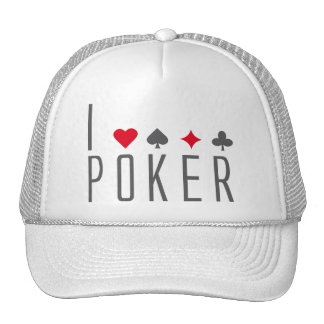 J Love póquer Bonés