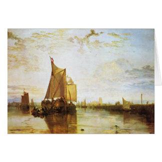 J.M.W. Turner - o Dort 1818 Cartão Comemorativo