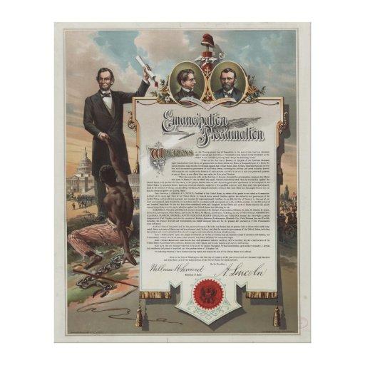 J.S. Smith & proclamação da emancipação da cópia d Impressão De Canvas Envolvidas