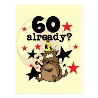 Já aniversário 60 cartão postal