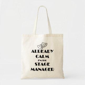 Já calma eu sou o gerente de palco sacola tote budget