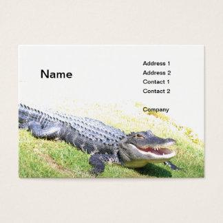 jacaré americano cartão de visitas