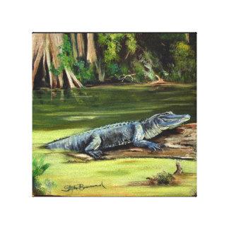 """Jacaré de Louisiana 10"""" x 10"""" impressão das canvas"""
