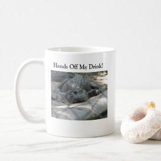 Jacaré engraçado caneca de café
