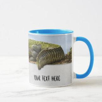 Jacaré enorme Panoromic da fotografia da natureza Caneca
