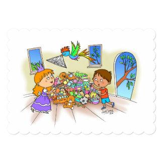 "Jack & a princesa 5"" x 7"" mini impressão convite personalizados"