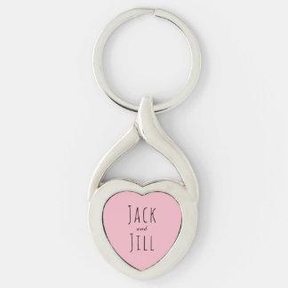 Jack e Jill/casal feito sob encomenda Chaveiro