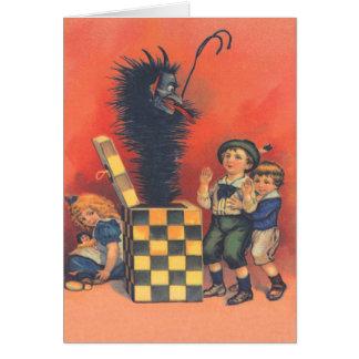 Jack-Em-UM-Box de Krampus Cartão Comemorativo