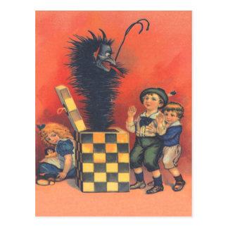 Jack-Em-UM-Box de Krampus Cartão Postal